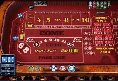 Table ScreeenShot - WGS Technology Craps