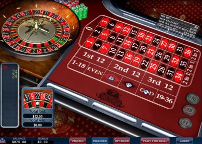 Table ScreeenShot - WGS Technology European Roulette